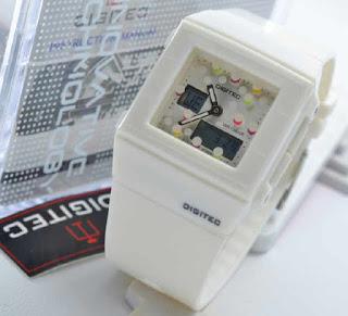 jam tangan Digitec original  3017T white rubber