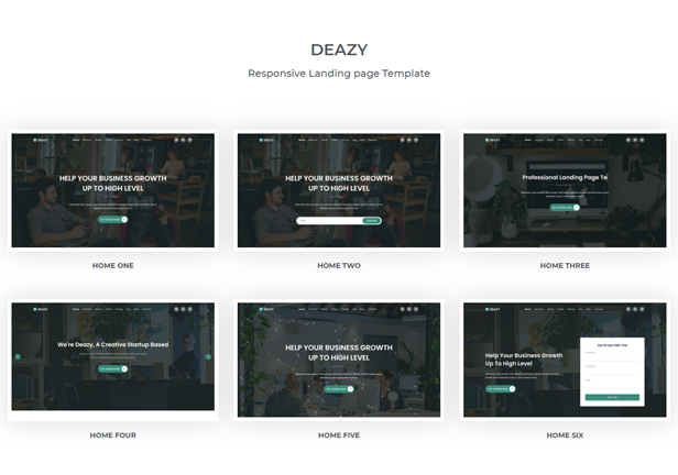 Deazy - Bootstrap 5 Landing Page Template - 1