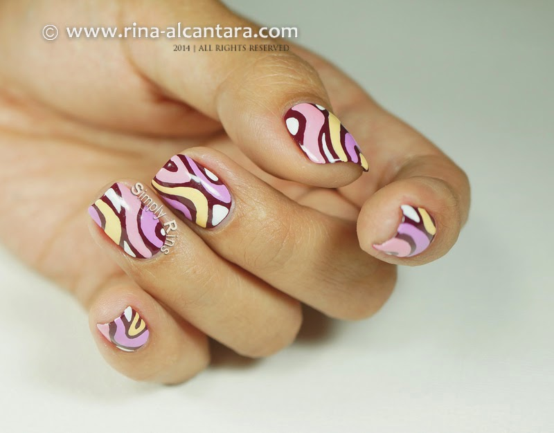 Disaligned Nail Art Design