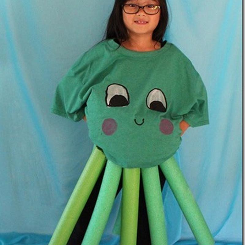 Disfraz casero de pulpo para escolares