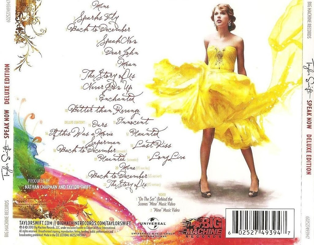 Taylor Swift - Speak Now (Disc 1) - THU LỘC