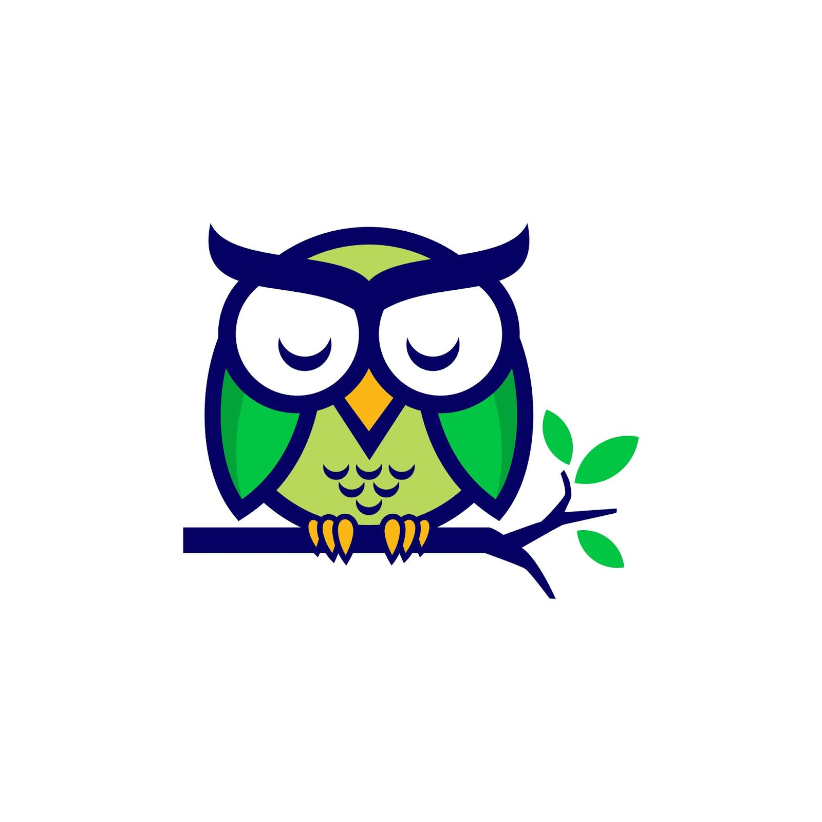 Owl Sleeping Vector Design Free Download Vector CDR, AI, EPS and PNG Formats