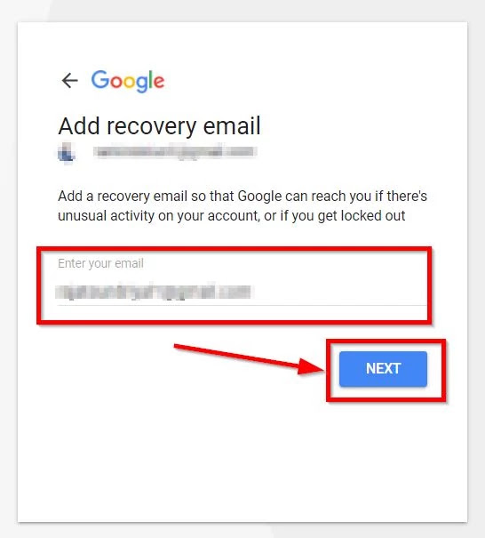 recovery email address