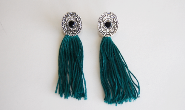 Diy Embroidery Thread Tassel Earrings Wild Amor