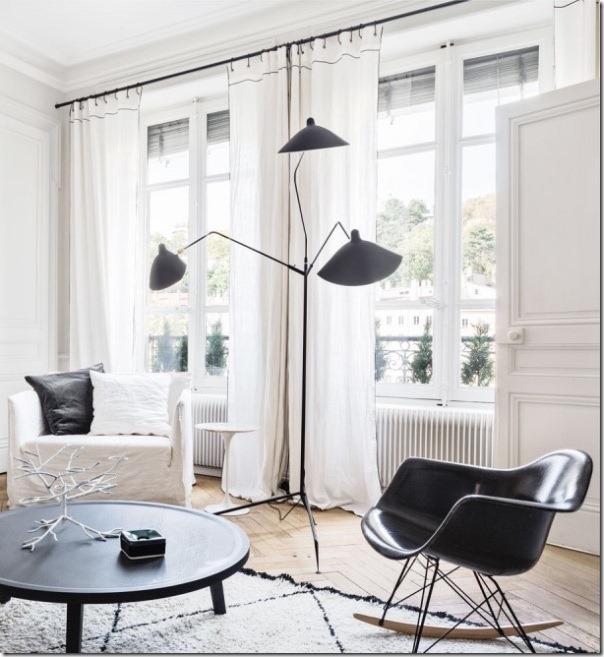 Bianco e nero sofisticato e chic case e interni for Appartamento design interni