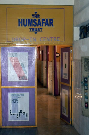 Humsafar drop-in center entrance
