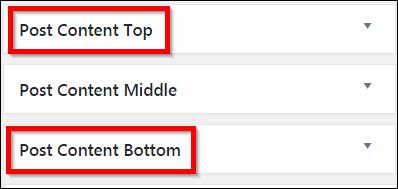 wordpress theme widget setting