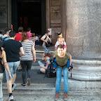 2013, Rome, op de rug voor het Pantheon