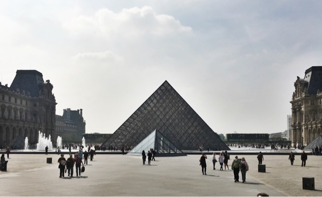 The Pyramid entrance of The Louvre