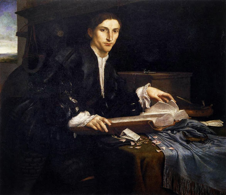 Lorenzo Lotto - Portrait of a Gentleman in his Study