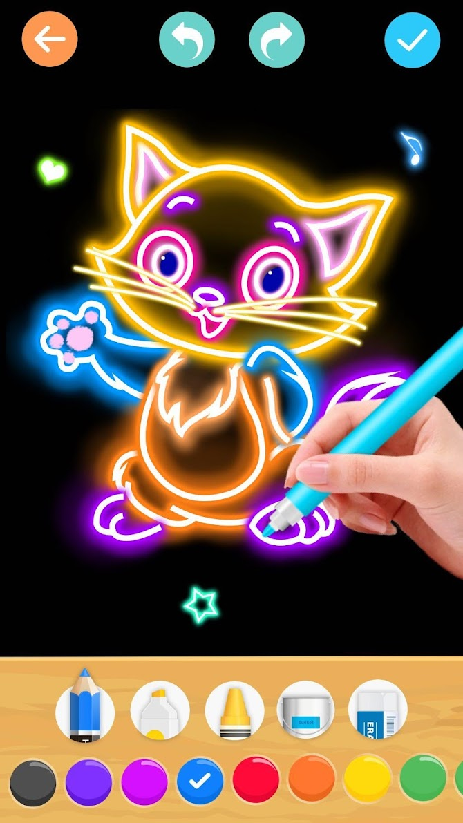 Draw Glow Animals Android 6