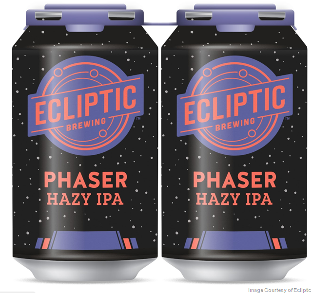 Ecliptic Brewing Now Brewing Phaser Hazy IPA Year Round