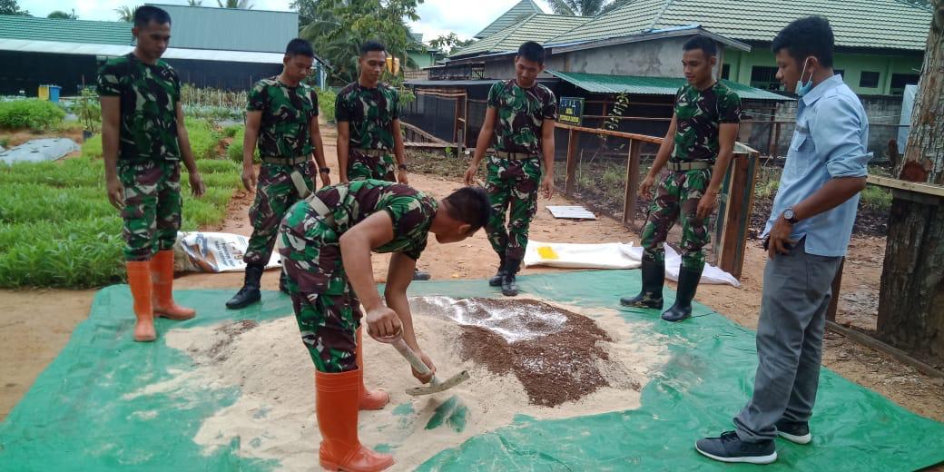 Prabinsa Kodim Tenggarong ikuti pelatihan pengolahan konsentrat organik