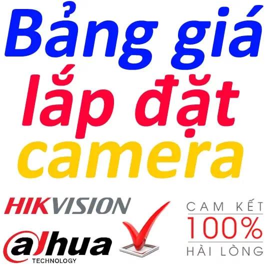bảng giá lắp đặt camera rẻ nhất thái nguyên