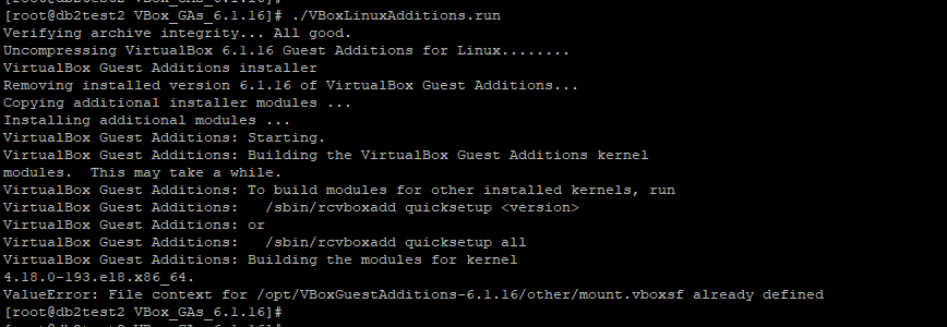 ./VBoxLinuxAdditions.run output