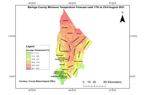 BARINGO COUNTY WEEKLY WEATHER FORECAST