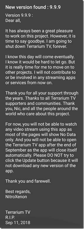 terrarium tv no data