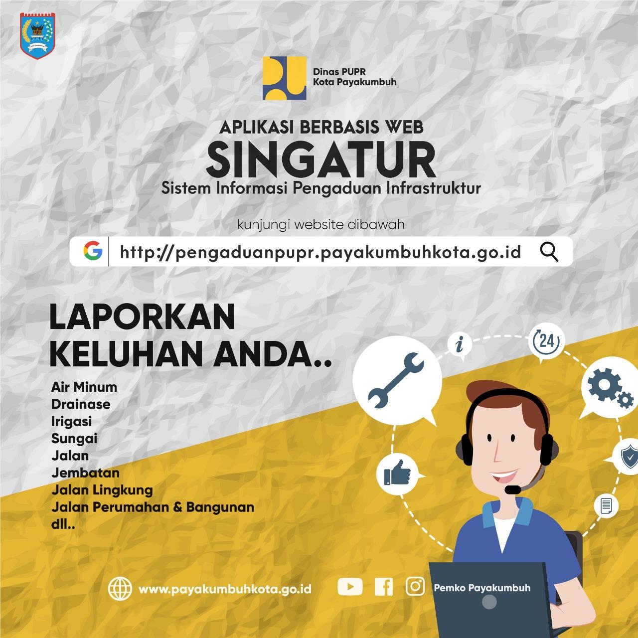 Inovasi Dinas PUPR Kota Payakumbuh, Aplikasi SINGATUR.