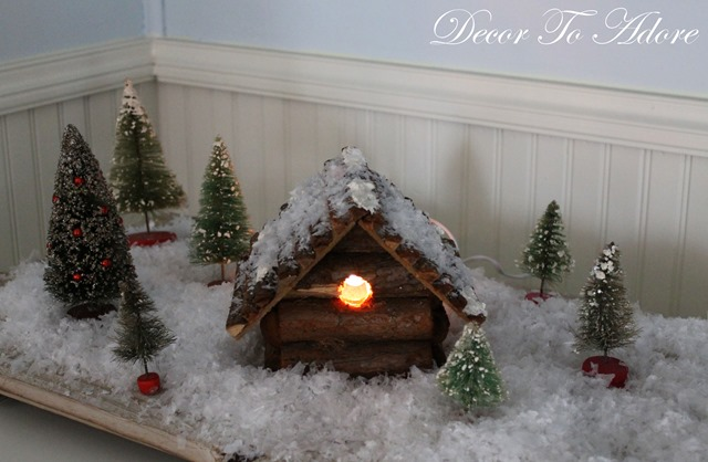 Gingerbread Log Cabin 058