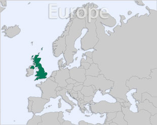 United Kingdom location map