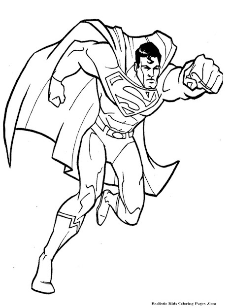 Latest Superman Coloring Page Design