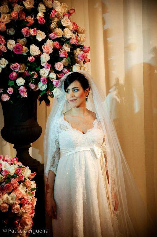 Foto de casamento 0361 de Marcella e Raimundo. Marcações: 15/08/2009, Casamento Marcella e Raimundo, Fotos de Vestido, Rio de Janeiro, Stella Fischer, Vestido, Vestido de Noiva.