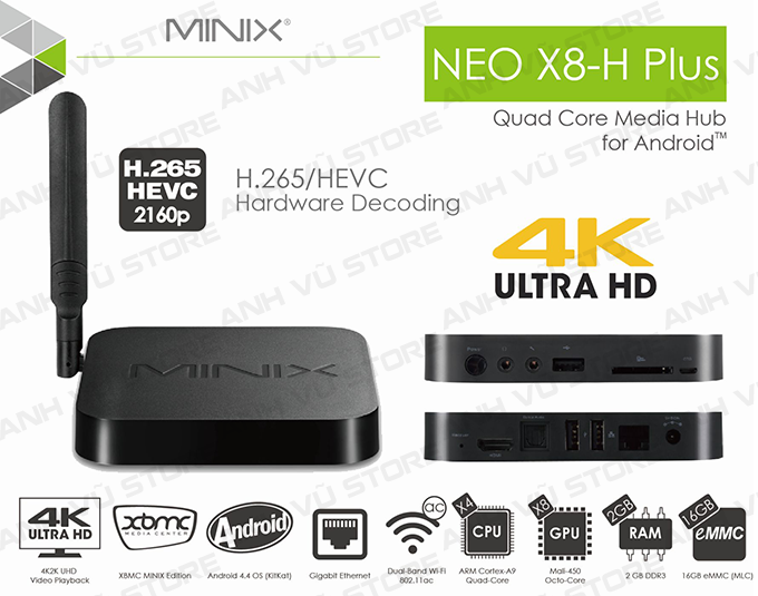 minix neo x8-h plus android tv box + ban phim chuot bay minix neo a2 lite 03