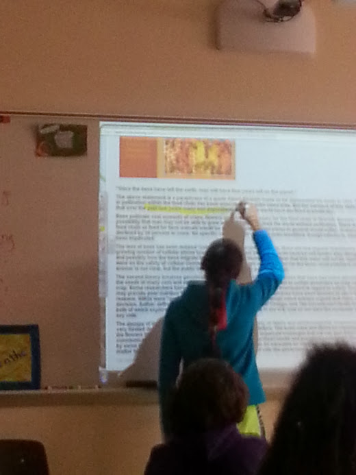 Whole Group Practice of Reading Informational Articles and Test Taking Skills Using the Smartboard