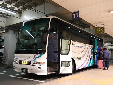 名鉄バス「名古屋~新潟線」 2607 名鉄バスセンター到着