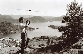 Photo: Måling fra Storheia, Flekkefjord. Tidl. 60årene.