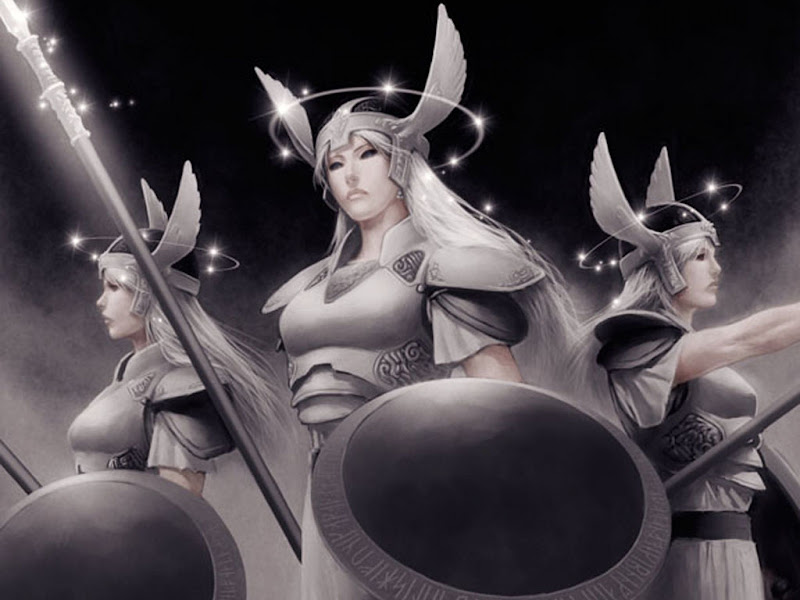Three War Goddesses, Goddesses