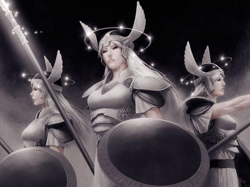 Three War Goddesses, Goddesses