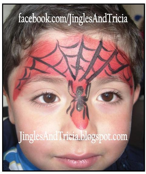 Jingles And Tricia Spiderman Face Painting Designs Spider Web