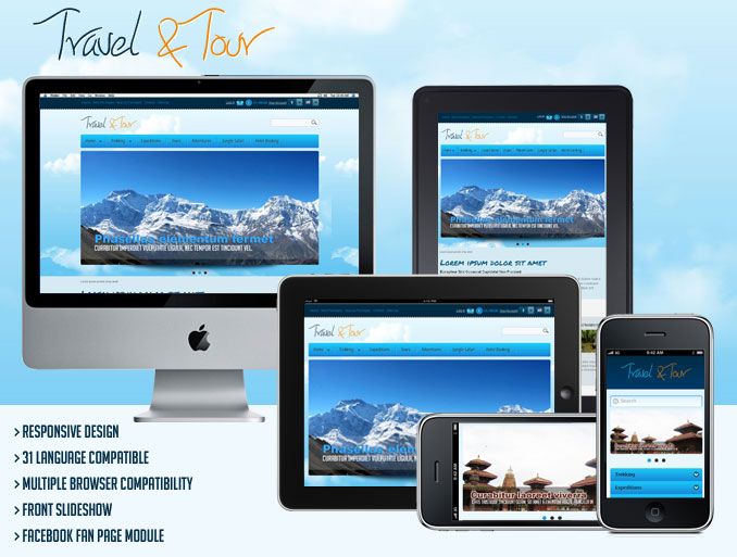 Responsive Travel and Tour Template