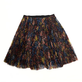 Burberry Pleated Floral Skirt