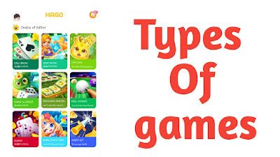 type of games in hago app