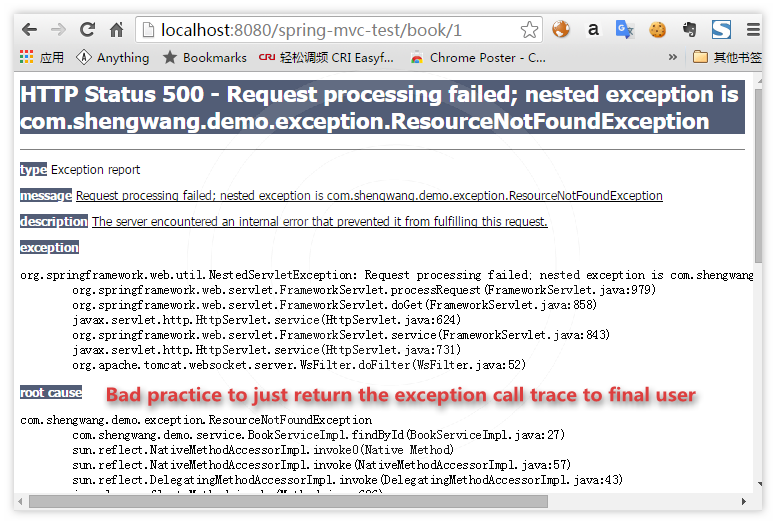 Exception handling in spring mvc/rest application | Code