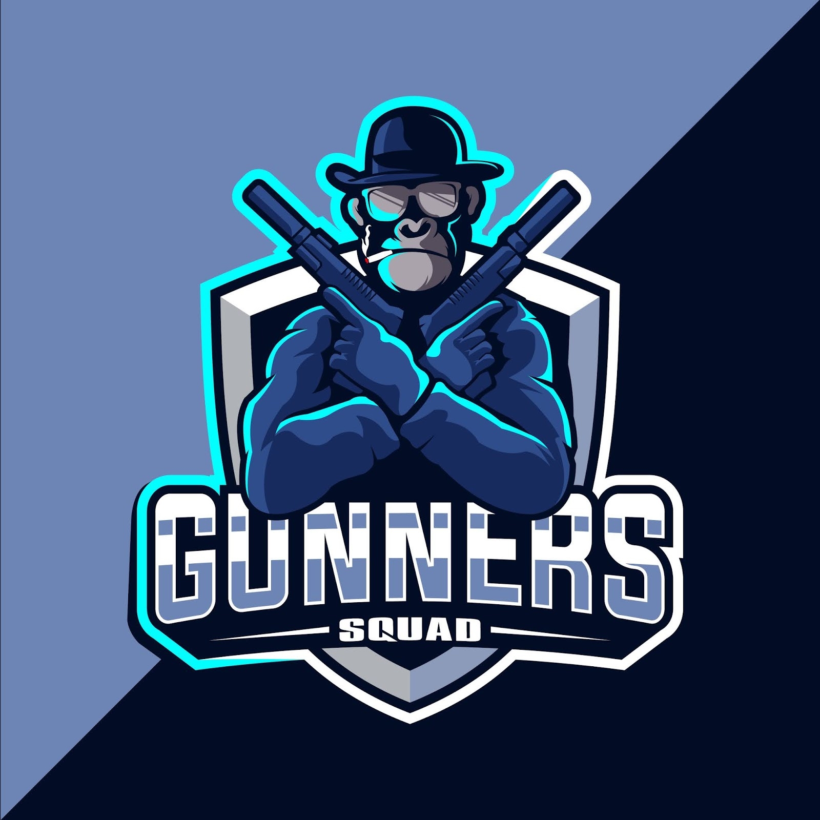 Monkey With Gun Esport Mascot Logo Free Download Vector CDR, AI, EPS and PNG Formats