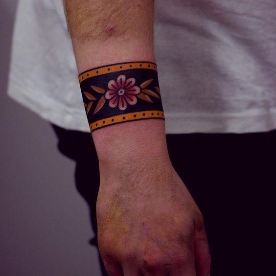 floral_pulseira_de_tatuagem