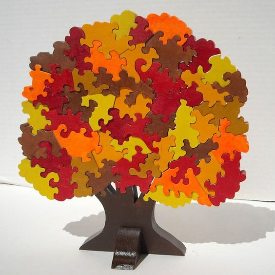 scroll saw fall tree