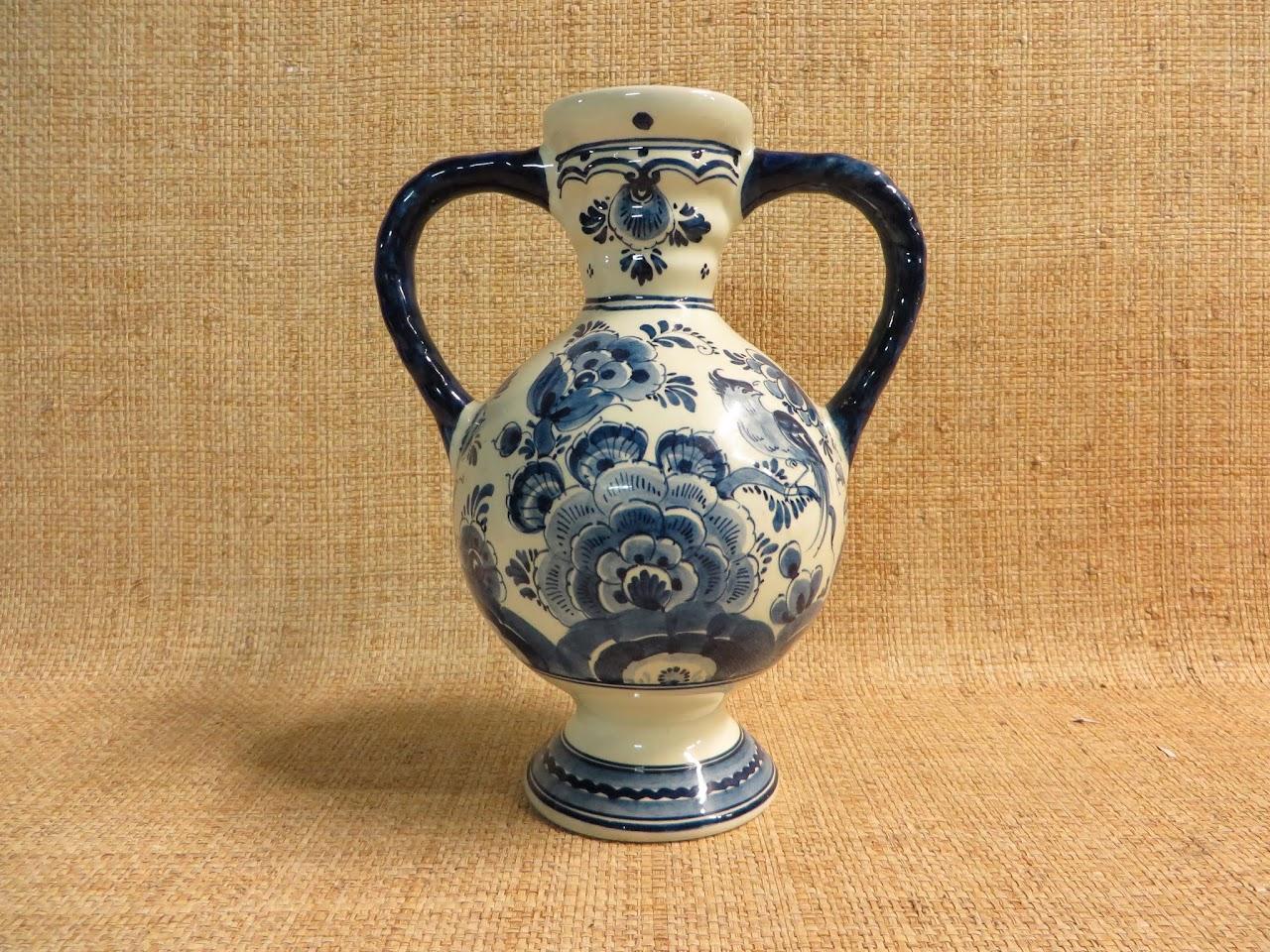 Delft Handled Vase