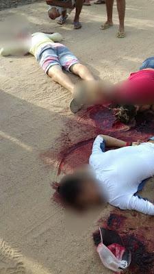 Três estudantes são executados a tiros