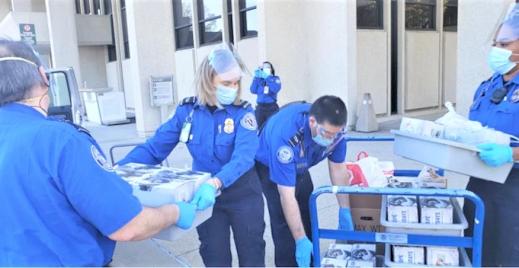 TSA team at Norfolk International Airport helps feed local community