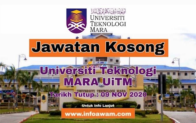Jawatan Kosong Terkini Di Universiti Teknologi MARA UITM 2020