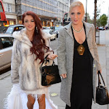 WWW.ENTSIMAGES.COM -  Lydia Lucy and DJ Sarah Giggle  arriving   at     Charity catwalk show at Wear it for Autism - Millennium Hotel London Knightsbridge, London October 6th 2014Charity fashion show to celebrate families and individuals affected by autism.                                                 Photo Mobis Photos/OIC 0203 174 1069