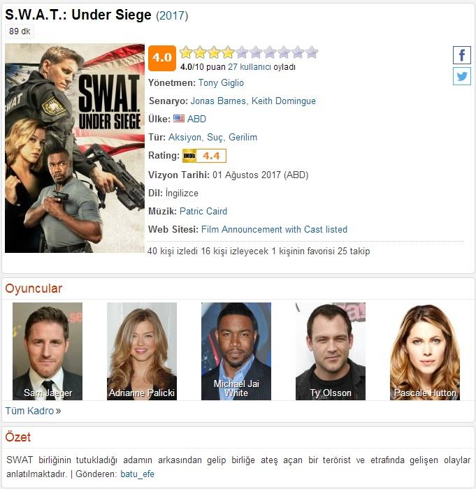 SWAT Under Siege 2017 - 1080p 720p 480p - Türkçe Dublaj Tek Link indir