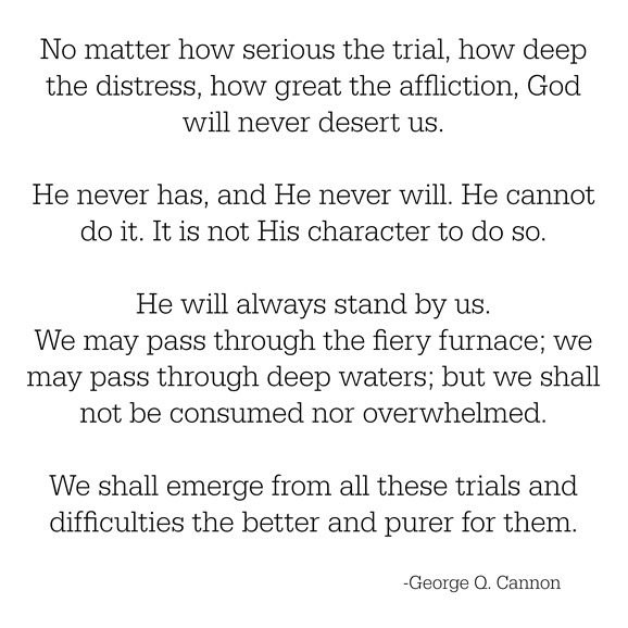 god will never desert us -- cannon