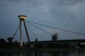New Bridge over the Danube at dusk