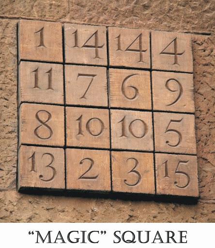 Sagrada Familia Magic Squares. From Six Secrets of Barcelona