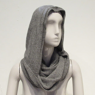 Ann Demeulemeester Hooded Alpaca Infinity Scarf